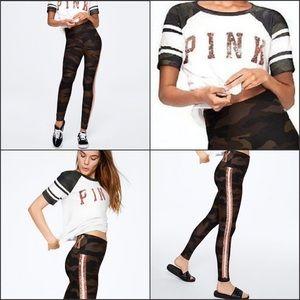 PINK Victoria's Secret Tops - VS PINK 3 Item Camo Bling Set legging hoodie & T